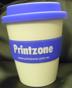 Client Project:  Branded carry cup. #brandedmugs #thrivepromotional