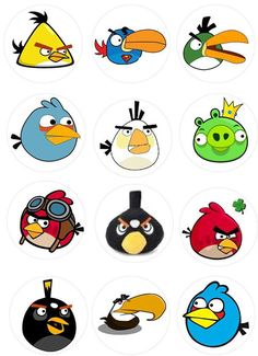Angry Birds For Cupcakes Cumpleaños Angry Birds, Angry Birds Stella, Festa Angry Birds, Angry Berds, Flying Birds, Bird Drawings, Easy Drawings, Angry Birds Characters, Angry Birds Cupcakes