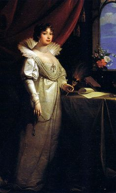 Karoline Amalie of Hesse-Kassel, Duchess of Saxe-Gotha-Altenburg by Josef Maria Grassi, 1804.  Step-grandmother of Prince Albert of Saxe-Coburg-Gotha, consort of Queen Victoria.