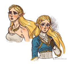 Embedded image, This is a sketch done by some other artist, this sketch is princess Zelda from breath of the wild!