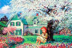 Season blooming (oil Painting for Jigsaw puzzle)TV serial animation Anne of Green Gables Anne Auf Green Gables, Girl Hair Drawing, Road To Avonlea, Anne Shirley, Prince Edward Island, How To Draw Hair, Art World, Concept Art, Images