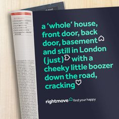 Brand New: New Logo and Identity for Rightmove by The Team Branding, Brand Identity, Typography Letters, Lettering, Advert Design, Basement Doors, Magazine Advert, Art Logo, Page Design