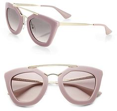 Prada 49MM Angular-Frame Sunglasses