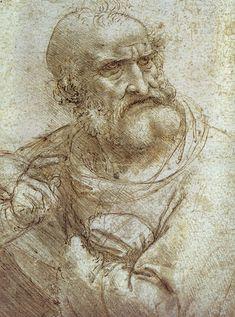 dessin leonard de vinci studyforlastsupper 44 56 dessins de Leonard De Vinci  histoire design art