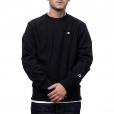 Champion Reverse Weave Hoodie (Black & Grey) | Champion AW/15 ...