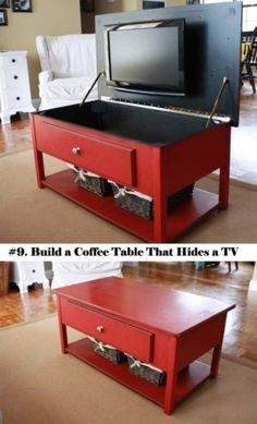 25 Clever Hideaway Projects You Want To Have At Home. Tv StorageHidden ...
