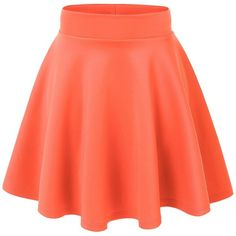 MBJ Womens Basic Versatile Stretchy Flared Skater Skirt ($6.89) ❤ liked on Polyvore featuring skirts, bottoms, skater skirt, red flare skirt, red circle skirt, stretchy skirts and red stretch skirt