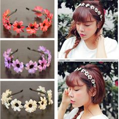 Find More Hair Accessories Information about 12pcs/lot Fabric Daisy Flower Headband Woman Girls Wedding Party Hair Accessories Flower alice band tiara crown,High Quality crown small,China accessories girl Suppliers, Cheap accessories tablet from Hair's Art Online Wholesale Store on Aliexpress.com