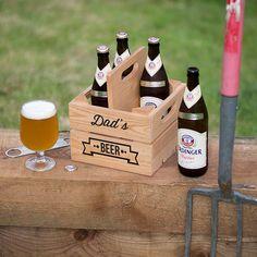 Personalised Wooden Beer Holder Crate | GettingPersonal.co.uk