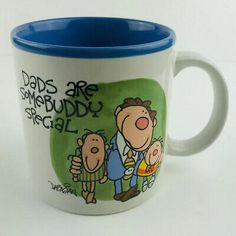 Vintage Potpourri Press Dads Are Special Mugshot By Dabagian 1987 Fathers Day West Jordan, Vintage Cartoon, Mug Shots, Potpourri, Fathers Day, Coffee Cups, Dads, Make It Yourself, Chips