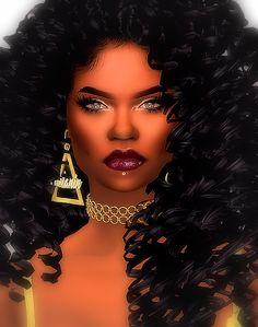 """"""" The Sims 4 Create A Sim ; Happy Anniversary The Black Simmer Afro Hair Sims 4 Cc, Sims 4 Curly Hair, Curly Afro Hair, Sims Hair, Sims 4 Teen, Sims Cc, Black Girls Hairstyles, Afro Hairstyles, Toddler Girl Shoes"""