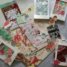 SWEET PEPPERMINT is the name of this retro-style Christmas theme paper crafting collection by Prima. It's all in the shop!