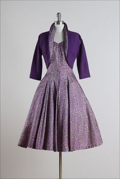 Lilac Monet . vintage 1950s dress . vintage by millstreetvintage