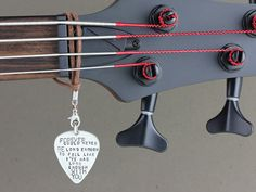 Items similar to Personalized Guitar Pick Accessory - Handmade Hand Stamped Guitar Jewelry on Etsy