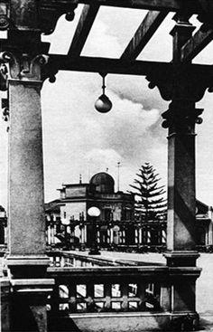 Belvedere Trianon -Rotogravura-de-1928 - Ao fundo Observatório de São Paulo - Acervo-Estadão