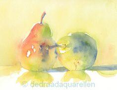 De Draad Aquarellen. Pears