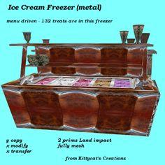 Ice Cream Freezer (wood) box