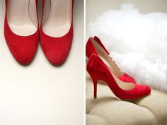 Red wedding shoes, image by Haywood Jones Photography