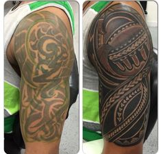 Q Polynesian Works Tribal Tattoo Cover Up, Tribal Cover Up, Cover Up Tattoos For Men, Black Tattoo Cover Up, Tribal Sleeve Tattoos, Feather Tattoos, Cover Tattoo, Tattoos For Guys, Polynesian Tattoo Designs