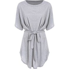 Short Sleeve Self-Tie Dolman Dress