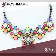 Multicolored Statement Necklace NW Super Cute in Person ? Adjustable Chain  Nickel Free Hypoallergenic zdazzled Jewelry Necklaces
