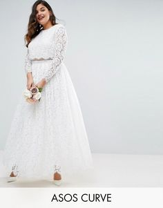 Plus Size Formal Dress - Lace Long Sleeve Maxi Dress #plussizedress
