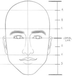 Portrait Drawing How to draw a face with ears Step 7 - Learn how to draw a face with correct proportions in 8 simple steps. You can easily draw faces without using a reference photo if you just remember a few key Drawing Skills, Drawing Lessons, Drawing Techniques, Drawing Tips, Art Lessons, Painting & Drawing, How To Draw Ears, Learn To Draw, Pencil Art Drawings