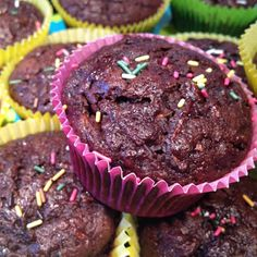 Muffins Courgettes & Chocolat