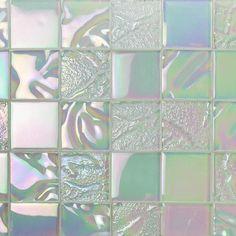 Glass Tile Backsplash, Glass Mosaic Tiles, Wall Tiles, Glass Tile Bathroom, Shower Tiles, Backsplash Ideas, Mosaic Wall, Tile Ideas, Kitchen Backsplash