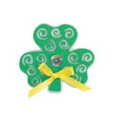 Swirl Shamrock Pin Craft Kit - OrientalTrading.com