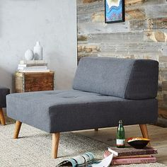 Retro Tillary Ottoman + Cushions #westelm Large ottoman that can be used as a seat with a back cushion