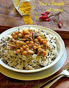 Ceci e funghi al curry #ricetta di @annamolino
