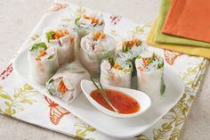 Rouleaux de Printemps Thaïlandais au Dindon Thai Dipping Sauce, Thai Sauce, Rice Paper Wraps, Whole Turkey, Rice Vermicelli, Cooking Turkey, Turkey Breast, Mets, Spring Rolls