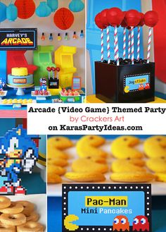 Arcade Themed Kids Party