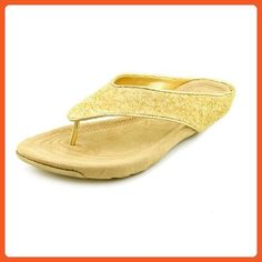 Kenneth Cole Reaction Women's 'Water Park' Thong Sandal, Gold, Size 8.0 - Sandals for women (*Amazon Partner-Link)
