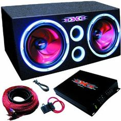 """XXX XBX1000 1000 Watt 10"""" Car Dual Bass Box System by XXX. $145.89. Two 10"""" High Power Subwoofers 40oz Double Stacked Strontium Magnet 1000 Watts Peak Power SPL: 87dB PWM MOSFET Power Supply Variable Crossover: High-Pass (75 Hz - 750 kHz), Low-Pass (50 - 150 Hz) Subwoofer Frequency Response: 24 Hz - 1 kHz Amplifier Frequency Response: 10 Hz - 40 kHz Fiberboard Construction Durable Ultra Black Carpeting Brand NEW. Save 48% Off! Custom Sport Bikes, Custom Cars, Car Speaker Box, Scion Tc, Car Goals, Sexy Cars, Car Audio, Car Accessories, Mopar"""