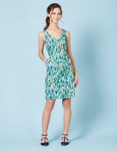 Boden Textured Emma Dress Turq Multi Painted Geo Women Get that Friday feeling any day of the week with this structured V-neck dress. With a flattering A-line fit, choose from geometric prints in fresh turquoise and pink or classic navy and red. Made from http://www.MightGet.com/january-2017-13/boden-textured-emma-dress-turq-multi-painted-geo-women.asp