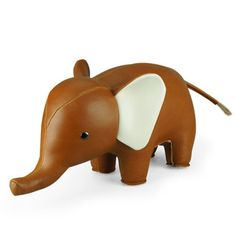 """These classic and traditional animal bookends suit a child's bedroom, or even the parent's study! The """"Classic"""" Collection is limited to leather-like colours. The classic serie is designed for indiv Deco Elephant, Cute Elephant, Next Gifts, Classic Series, Classic Collection, Decoration, Piggy Bank, Home Gifts, Hand Made"""