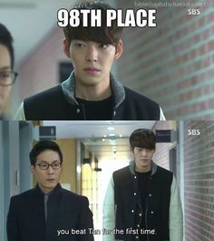 Heirs - Young Do's dad is a sick individual...not mad about his sons grades because he beat Kim Tan...no wonder Young Do is the way he is.
