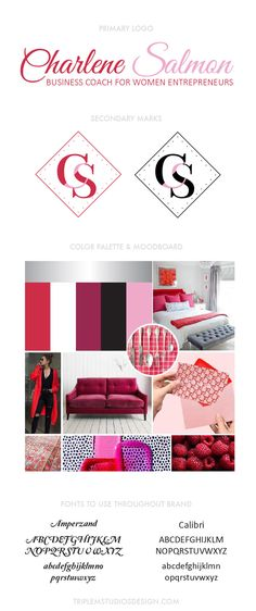 Brand Launch: Charlene Salmon | Brand Board, Brand Styling, Brand Design, Logo Design, Business Coach Brand | www.triplemstudiosdesign.com