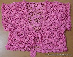 Ravelry: Bolero for 7 years old pattern by Girlie D. de los Reyes
