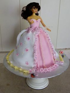 First Barbie Cake by Truly Scrumptious Guernsey, via Flickr