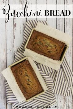 Zucchini Nut Bread | A Recipe from On Sutton Place