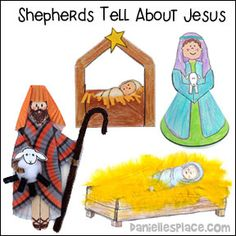 The Christmas Story - The Shepherds Tell About Jesus' Birth Bible Lesson from www.daniellesplace.com