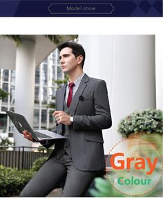 Mens Suits Suit + Vest + Pants High Quality Fabric Wedding Groom Dress Mens Dress Suits Formal Clothes Men Formal Dress For Mens From Changminhu, $97.09| Dhgate.Com