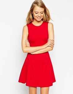 Enlarge ASOS Sleeveless Skater Dress with Cut Out Back Detail