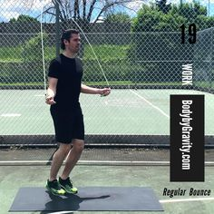 Burn fat in less time with this intense full-body jump rope workout. Get lean and muscular with this simple 5-minutes jump rope circuit you can do anywhere! Bodyweight Strength Training, High Intensity Interval Training, Weight Loss Program, Weight Loss Tips, Full Body Circuit, Jump Rope Workout, Lose Weight In A Week, Lower Abs, Workout Videos