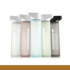 modern glass water bottle