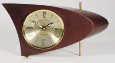 MidCentury Modern Table Clock Boomerang Clock By ClubModerne