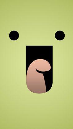 Laughing - iPhone wallpaper #bigface @mobile9
